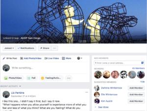 AEDP San Diego Facebook
